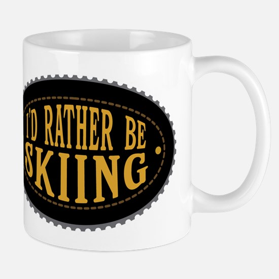 I'd Rather Be Skiing Mugs