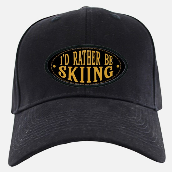 I'd Rather Be Skiing Baseball Hat