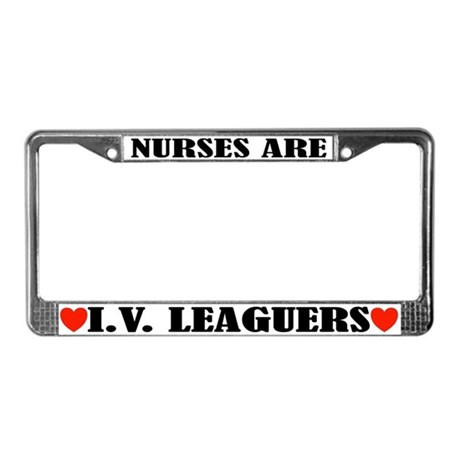 Funny Nurse License Plate Frame