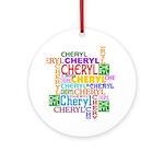 Cheryl Personalized Ornament (Round)