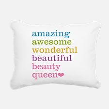 Beauty Queen Rectangular Canvas Pillow