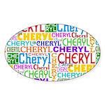 Cheryl Personalized Oval Sticker