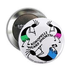 Kokopelli Wears Shorts #1 Button (10 pk)