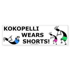 Kokopelli Wears Shorts Bumper Bumper Sticker