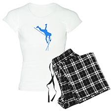 Blue Pole Vaulter Silhouette Pajamas