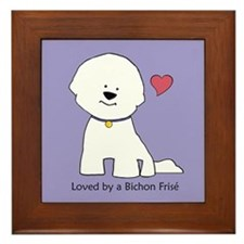Loved By A Bichon Framed Tile