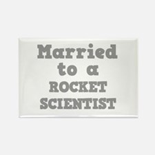 Married to a Rocket Scientist Rectangle Magnet (10