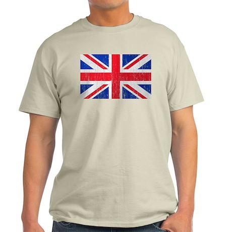 Union Jack Flag Distressed Look Light T-Shirt