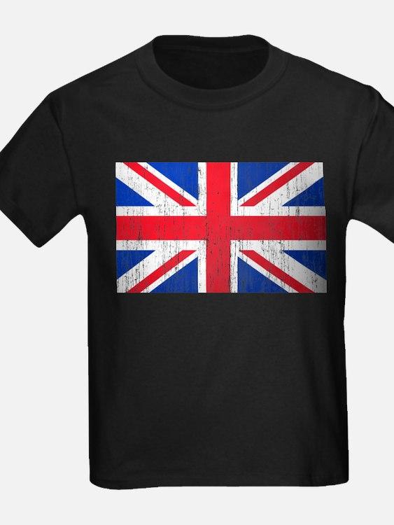 Union Jack Flag Distressed Look T