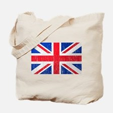 Union Jack Flag Distressed Look Tote Bag