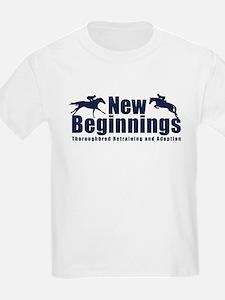 New Beginnings Thoroughbreds Logo T-Shirt