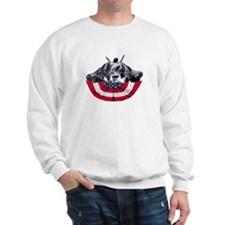 schnauzer on flag Sweatshirt