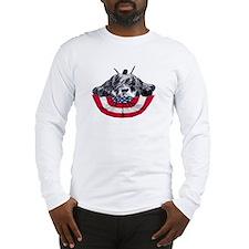 schnauzer on flag Long Sleeve T-Shirt