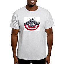 schnauzer on flag T-Shirt