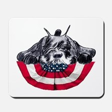 schnauzer on flag Mousepad