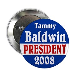 Tammy Baldwin for President Button