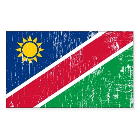 Vintage Namibia Rectangle Sticker