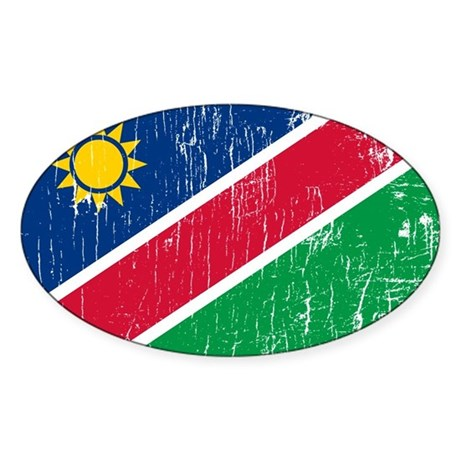 Vintage Namibia Oval Sticker
