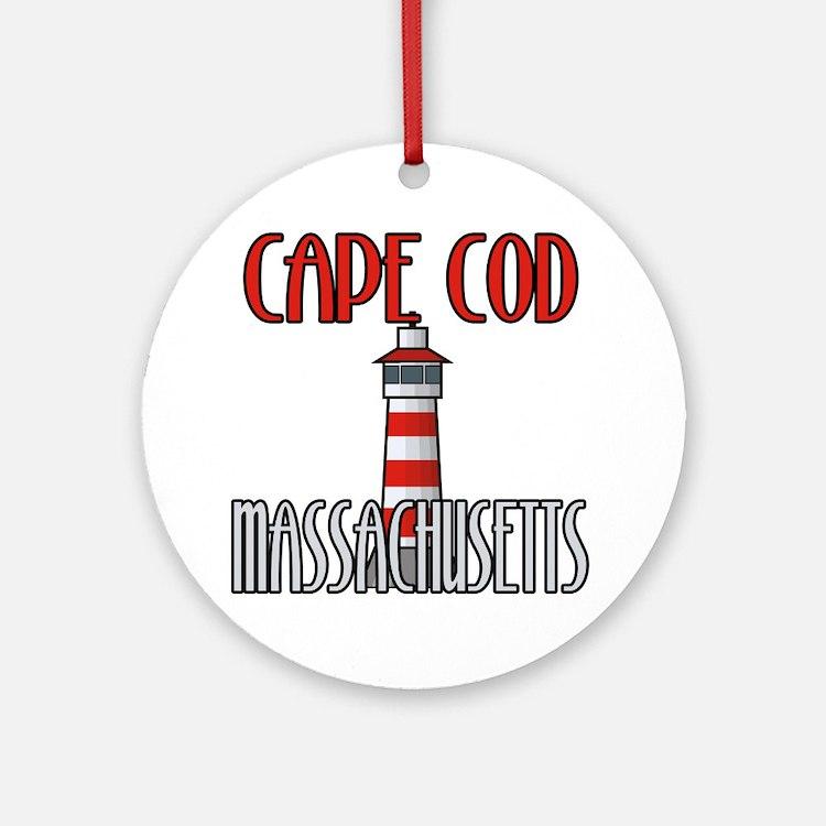 Cape Cod MA Ornament (Round)