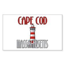 Cape Cod MA Rectangle Decal