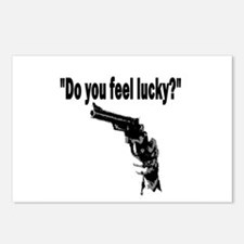 DO YOU FEEL LUCKY (GUN) Postcards (Package of 8)