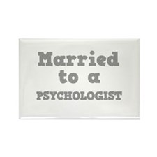 Married to a Psychologist Rectangle Magnet