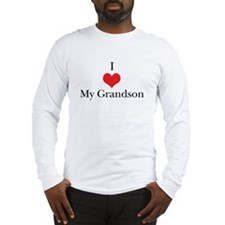 I Love (Heart) My Grandson Long Sleeve T-Shirt