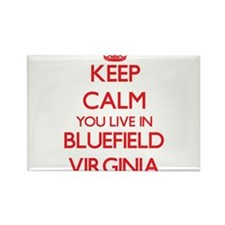 Keep calm you live in Bluefield Virginia Magnets