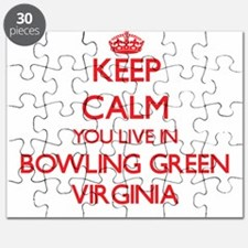 Keep calm you live in Bowling Green Virgini Puzzle