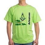 Arkansas Freemasons Green T-Shirt