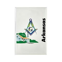 Arkansas Freemasons Rectangle Magnet