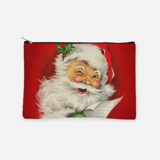 Vintage Christmas Santa Claus Makeup Pouch