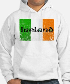 Ireland Flag Distressed Look Hoodie Sweatshirt