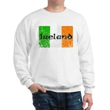 Ireland Flag Distressed Look Sweatshirt