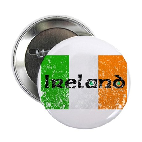 Ireland Flag Distressed Look Button
