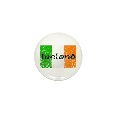 Ireland Flag Distressed Look Mini Button