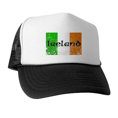 Ireland Flag Distressed Look Trucker Hat