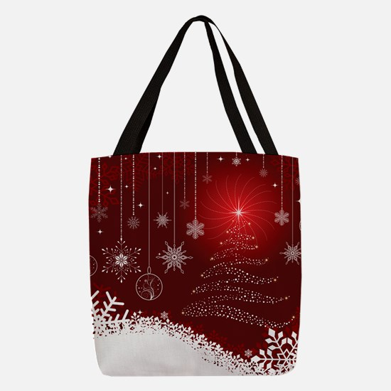 Decorative Christmas Ornamental Polyester Tote Bag