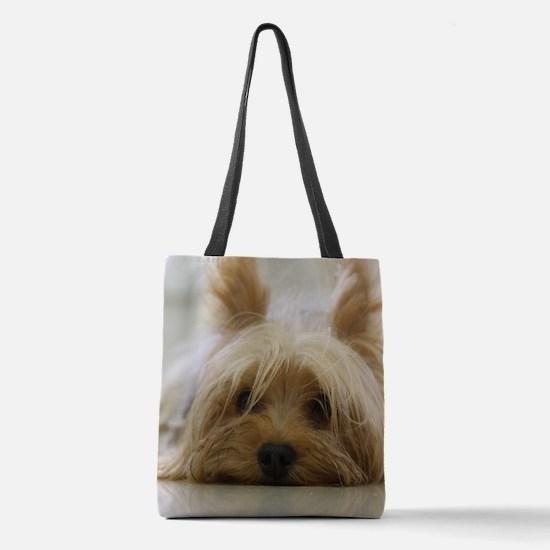 Yorkie Dog Polyester Tote Bag