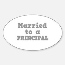 Married to a Principal Oval Decal