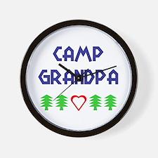 """Camp Grandpa"" Wall Clock"