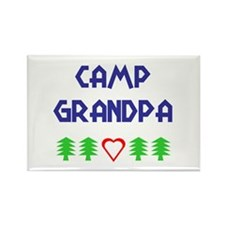 """Camp Grandpa"" Rectangle Magnet"