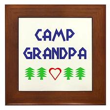 """""""Camp Grandpa"""" Framed Tile"""