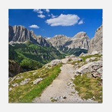 Dolomiti - footpath in Val Badia Tile Coaster