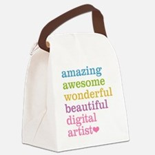 Digital Artist Canvas Lunch Bag