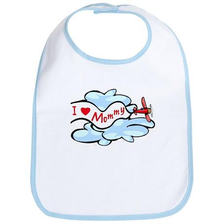 I Love Mommy Airplane Bib