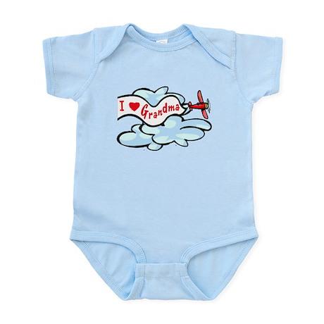 I Love Grandma Airplane Baby/toddler bodysuit