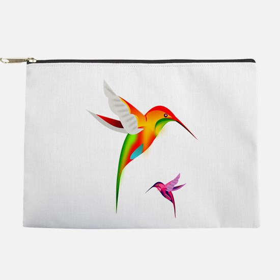 Colorful Hummingbirds Birds Makeup Pouch