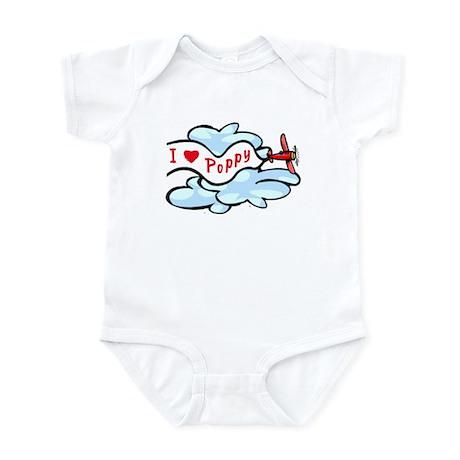 I Love Poppy airplane Baby/Toddler Onesie
