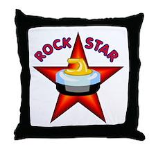 """""""Rock Star (Curling)"""" Throw Pillow"""